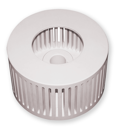 Zirconia Toughened Alumina filter component -- used where harsh environments require exceptionally tough materials.