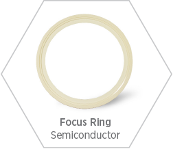 Precision focus rings made from high-purity alumina ceramic for use in the semiconductor manufacturing industry