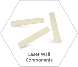 Technical ceramic laser wall components for use in CO2 lasers