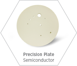 High-purity alumina precision plate with custom machining and large sizes for use in Semiconductor manufacturer markets