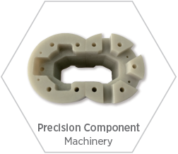 Precision aluminum nitride ceramic components for use in high-performance machinery