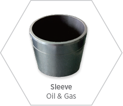 high-purity silicon carbide sleeve for oil & gas applications where high heat and friction are factors for peformance
