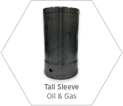Tall sleeve made from high-purity silicon carbide for use in oil & gas applications