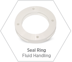 Zirconia seal ring for use in fluid handling applications
